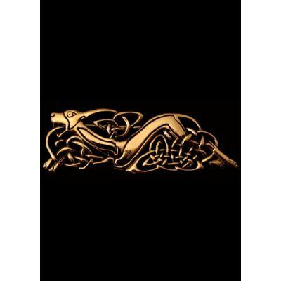 Broche celta - Cabeza de sabueso
