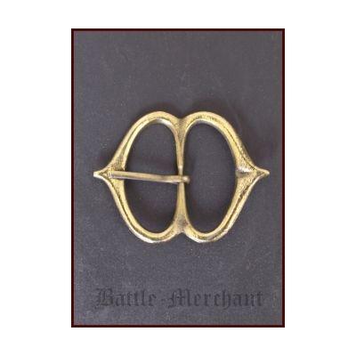 Hebilla medieval de cinturón - Latón - 51 mm