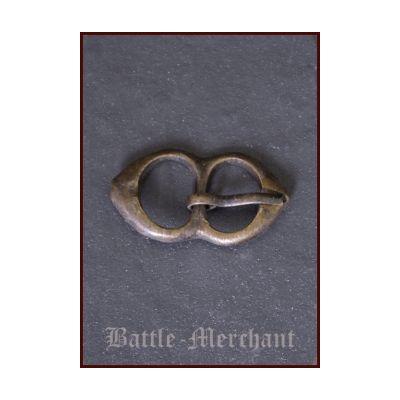 Hebilla medieval de cinturón - Latón - 15 mm